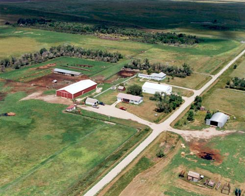 Ariel view of the ranch